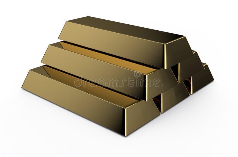 Gouden bakstenen stock illustratie