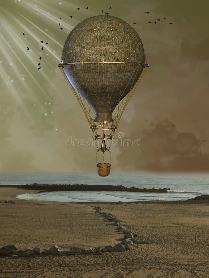 Gouden baloon royalty-vrije stock fotografie