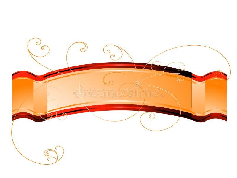 Gouden banner stock afbeelding