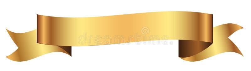 Gouden banner voor ontwerp in vector vector illustratie