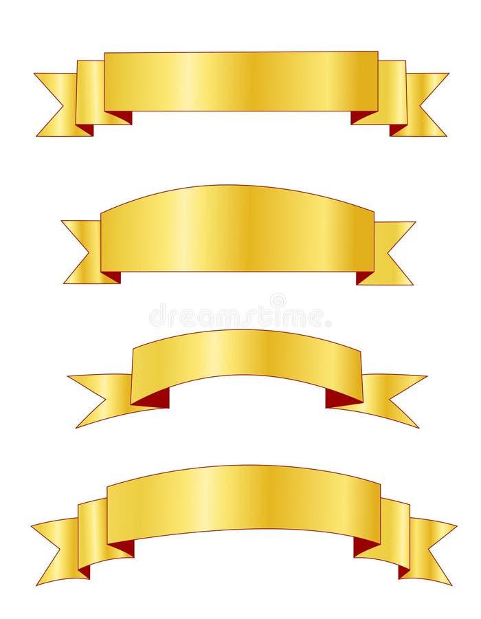 Gouden banners/banner stock illustratie