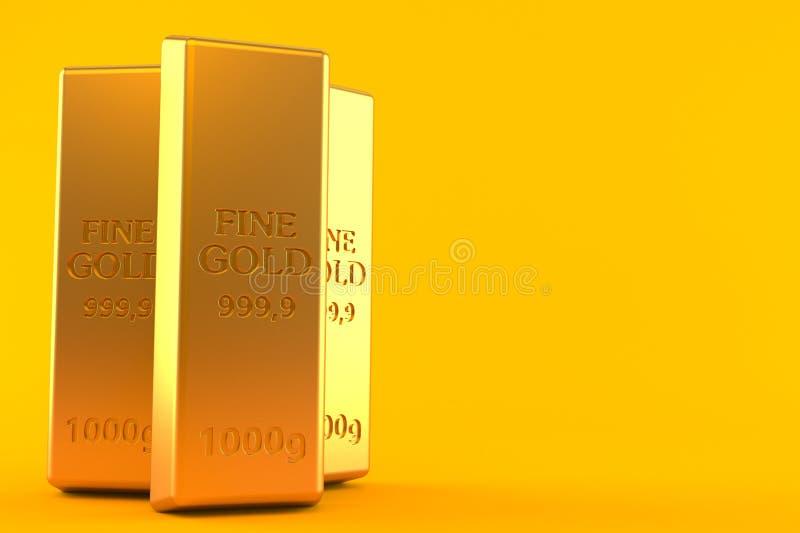 Gouden baren royalty-vrije illustratie