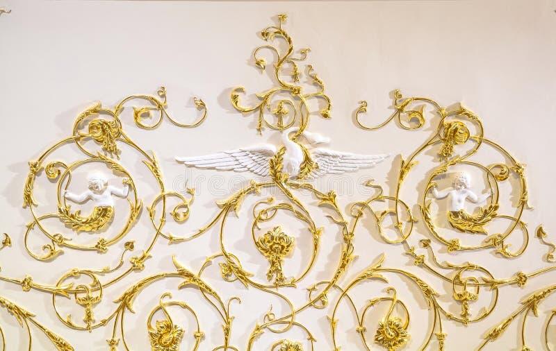 Gouden barok ornament royalty-vrije stock foto