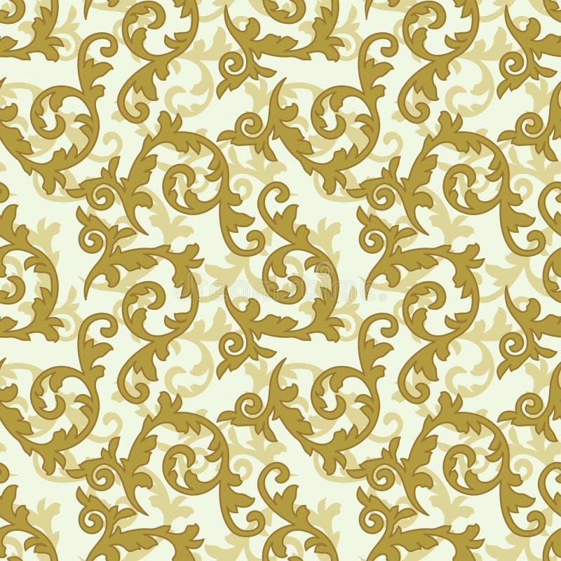 Gouden barok patroon vector illustratie