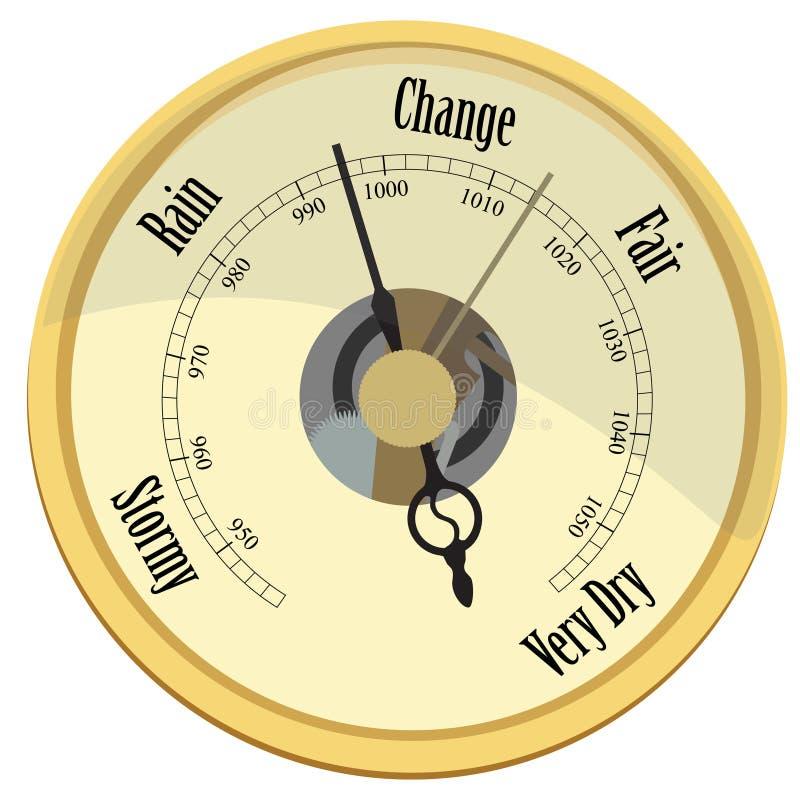 Gouden barometer stock illustratie