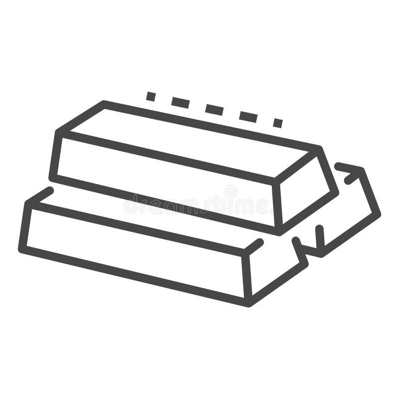 Gouden barpictogram, overzichtsstijl vector illustratie