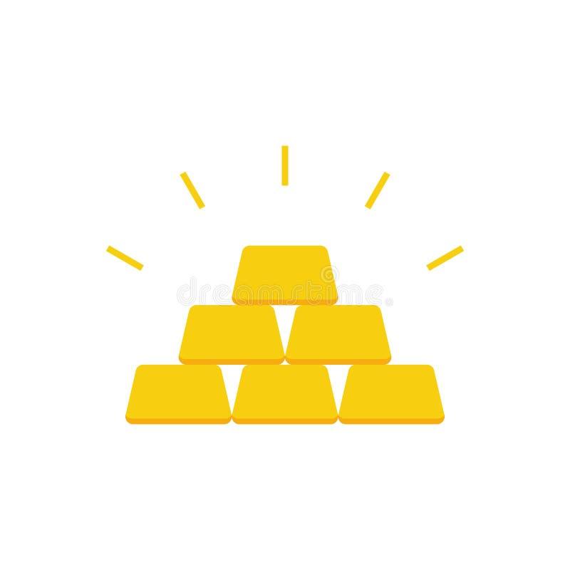 Gouden barspiramide royalty-vrije illustratie