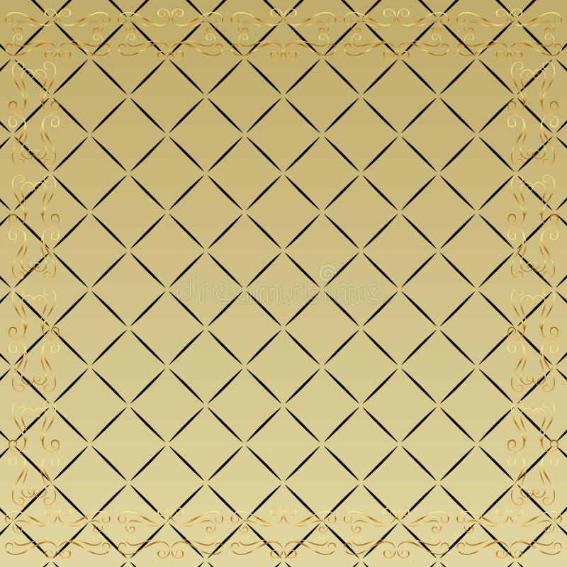 Gouden behang met exemplaarruimte royalty-vrije illustratie