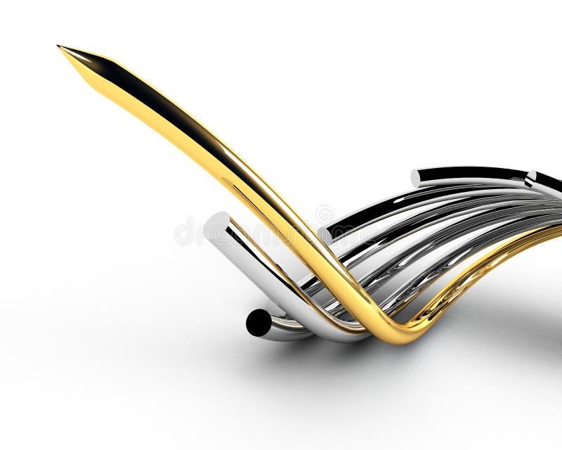 Gouden belangrijke kabel vector illustratie