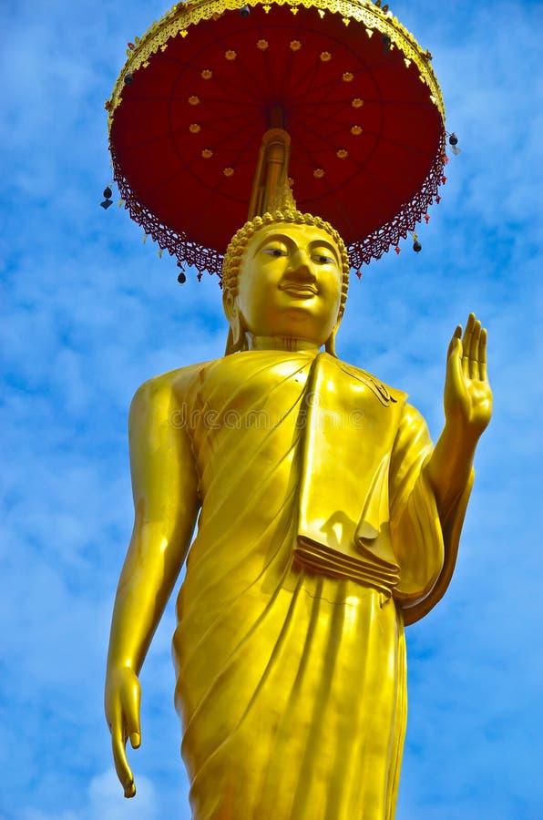 Gouden Bevindende Boedha stock afbeeldingen
