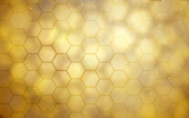 Gouden bijenkorfachtergrond stock illustratie
