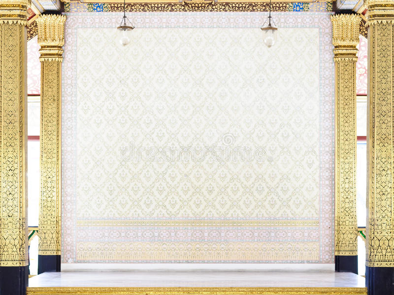 Gouden binnenlands ontwerp royalty-vrije stock foto