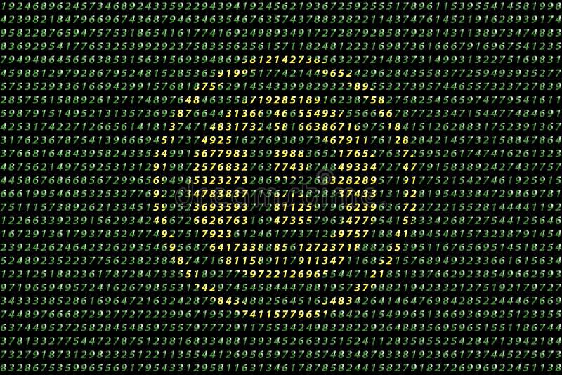Gouden bitcoin digitale munt op gegevensachtergrond, futuristisch digitaal geld, het concept van het technologiewereldwijde netwe royalty-vrije illustratie
