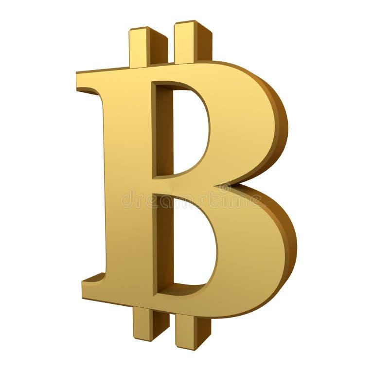 Gouden Bitcoin-Teken royalty-vrije stock foto's