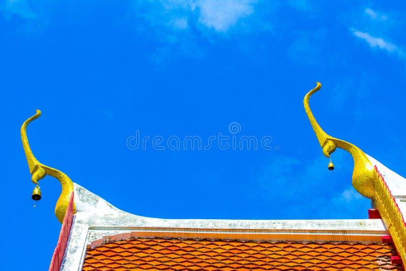 Gouden blauwe hemel stock afbeelding