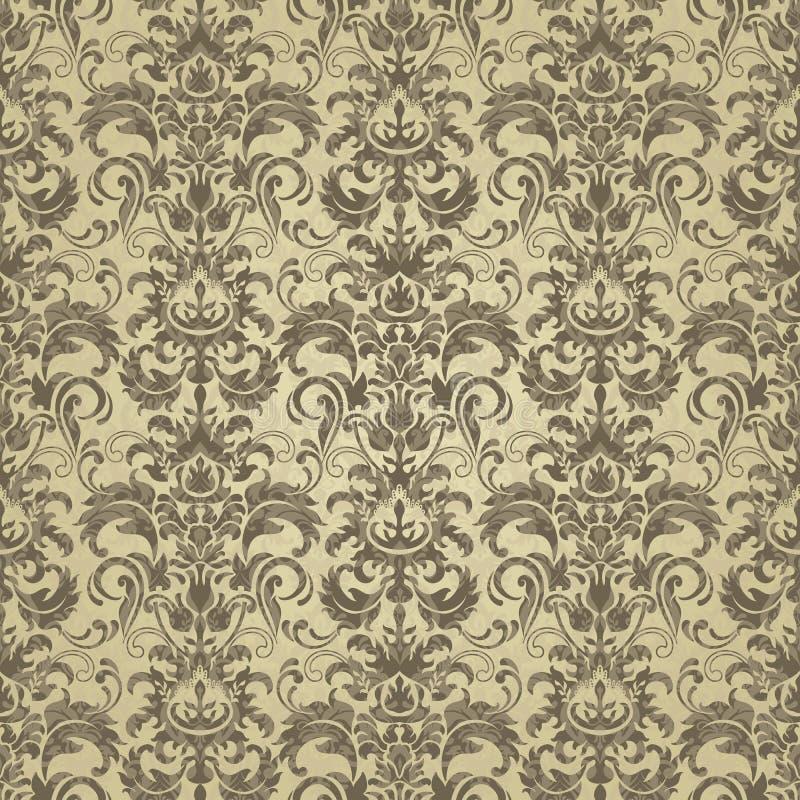 Gouden bloemen naadloos patroon Vector abstracte bloemenachtergrond Gouden decoratief ontwerp met geometrische vormen en elemente royalty-vrije illustratie