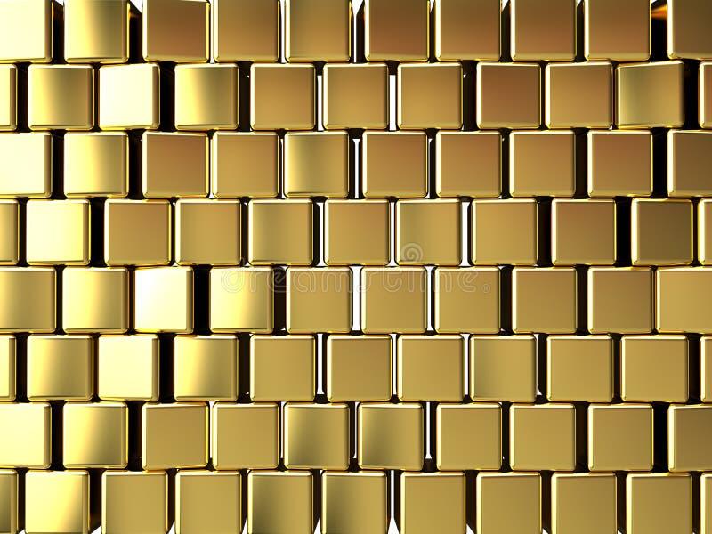 Gouden blokachtergrond stock illustratie