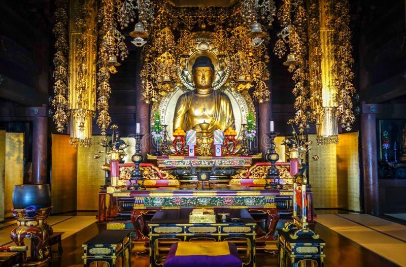Gouden Boedha in chion-in Tempel, Kyoto, Japan stock foto