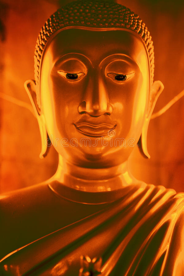 Gouden Boedha thailand royalty-vrije stock fotografie