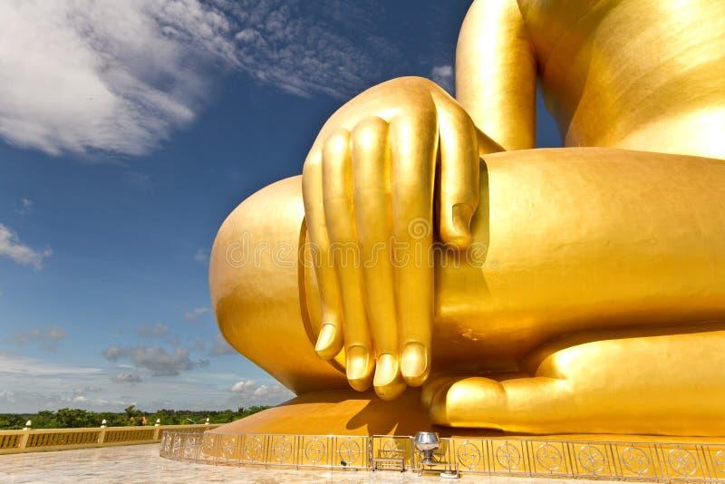 Gouden Boedha wat muang Thailandd royalty-vrije stock afbeeldingen