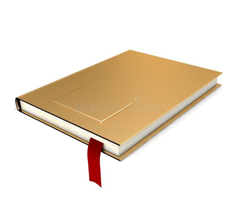 Gouden boek royalty-vrije illustratie