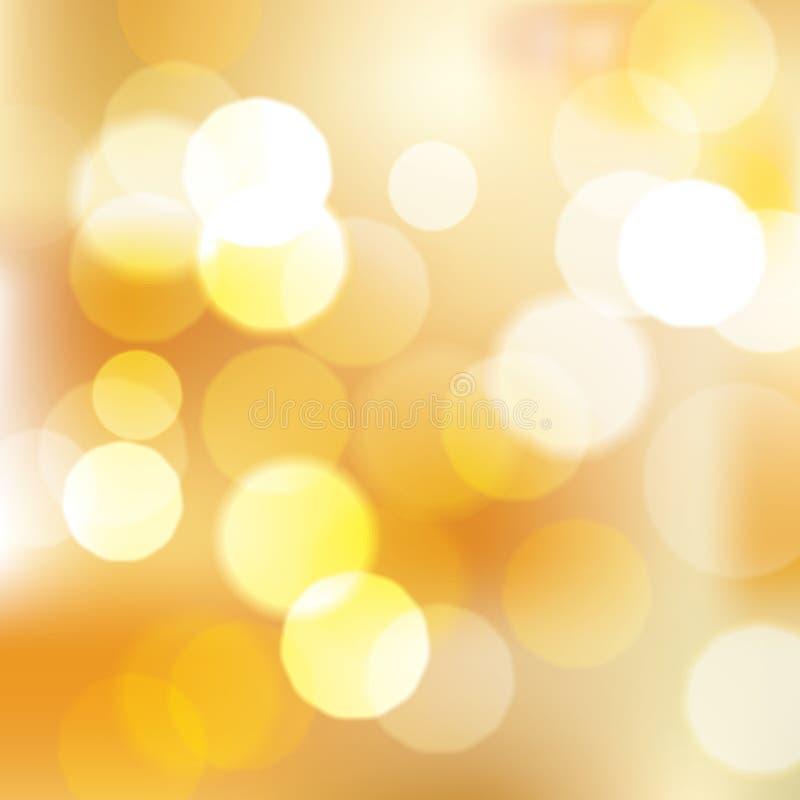 Gouden bokeh abstracte achtergrond