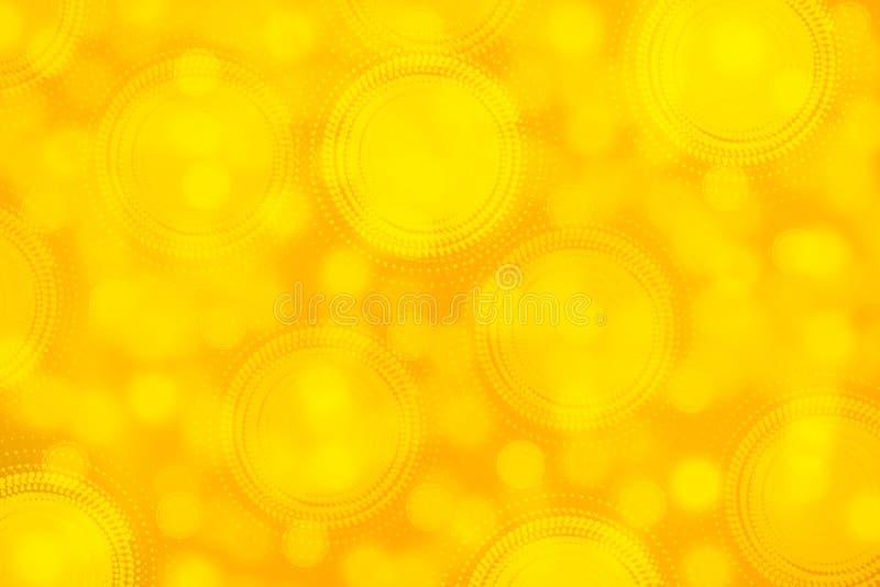 Gouden bokeh lichte feestelijke en seizoengebonden achtergrond vector illustratie