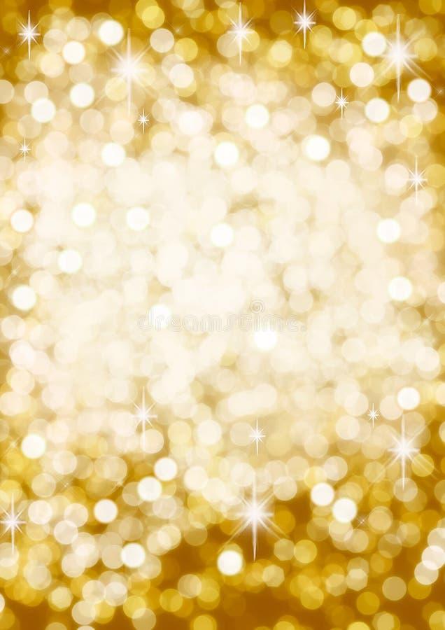 Gouden bokehachtergrond royalty-vrije stock afbeelding