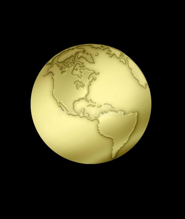 Gouden bol stock illustratie