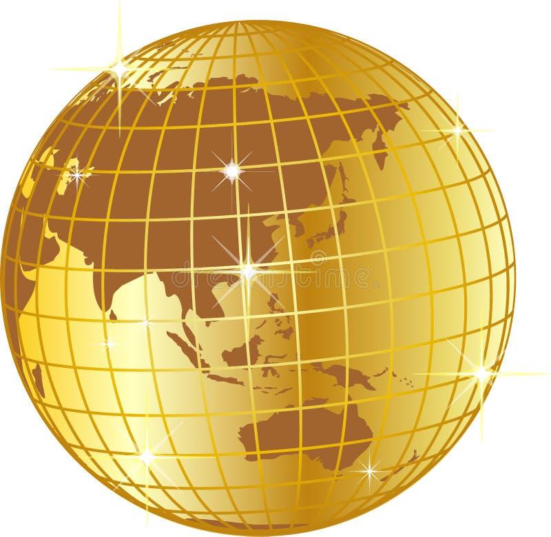Gouden bolillustratie vector illustratie