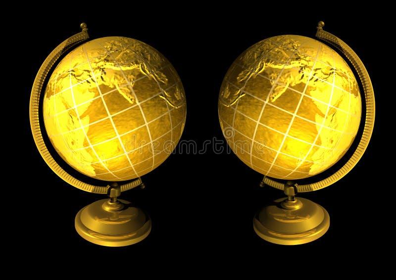 Gouden bollen royalty-vrije illustratie
