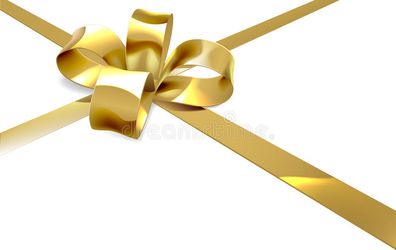 Gouden Boog Huidige Achtergrond stock illustratie