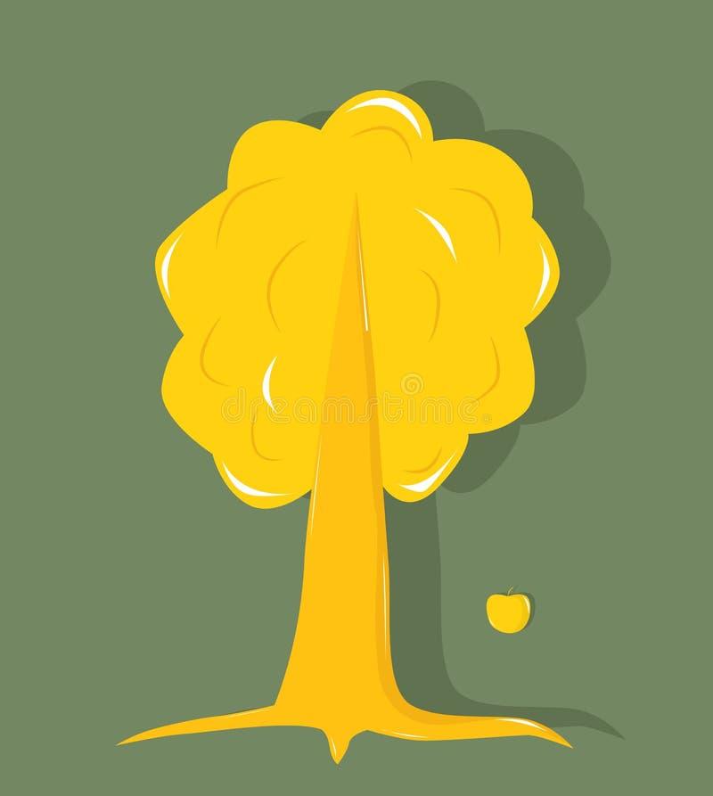 Gouden boom royalty-vrije illustratie