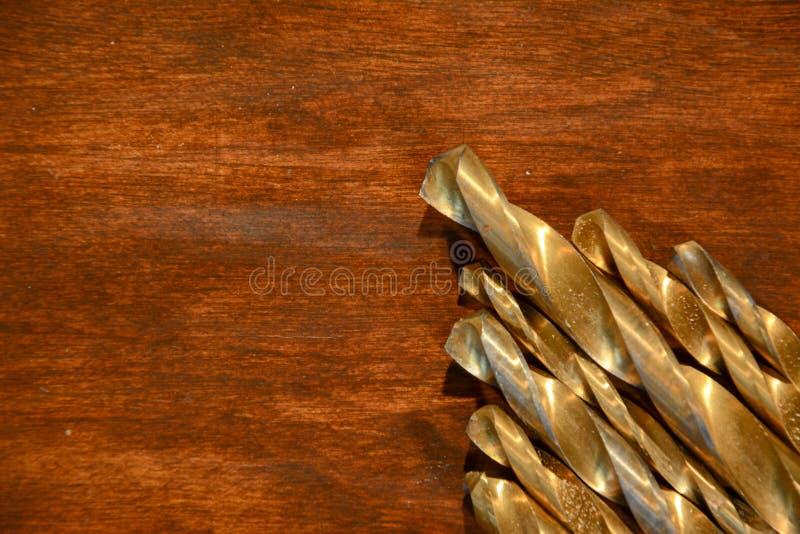 Gouden boorbeetjes stock foto's
