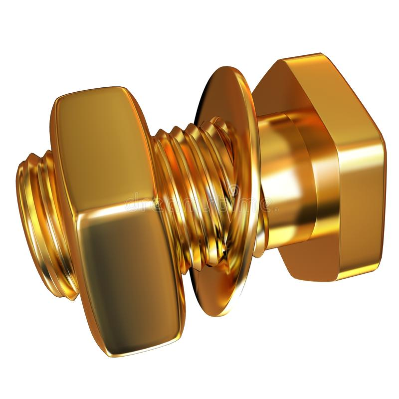 Gouden Bout met noot royalty-vrije illustratie
