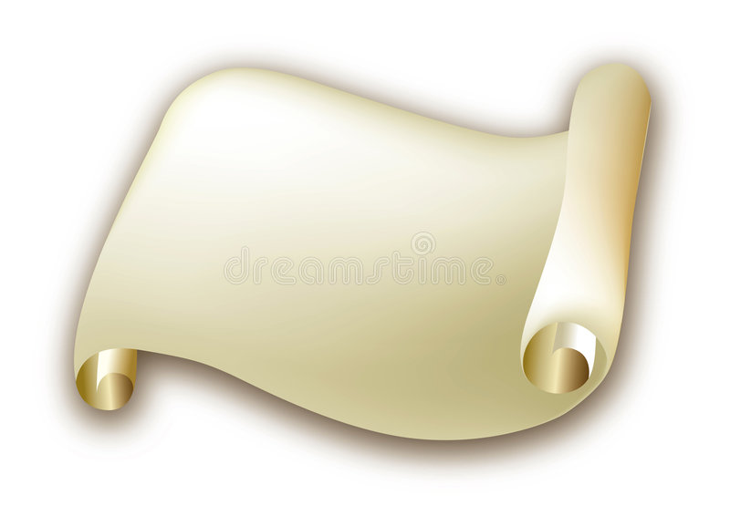 Gouden brief stock illustratie
