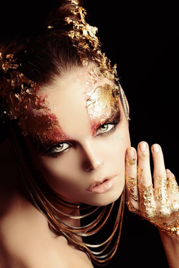 Gouden brows royalty-vrije stock foto