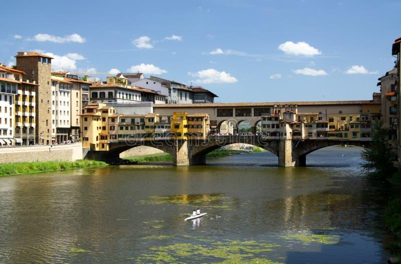Gouden brug in Florence royalty-vrije stock fotografie