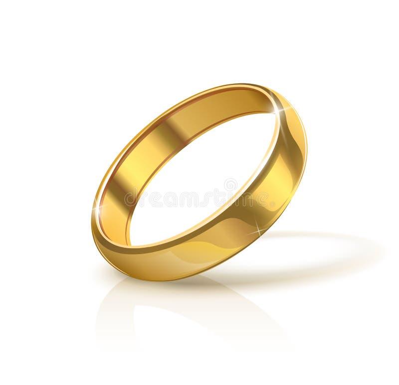 Gouden bruiloftring vector illustratie