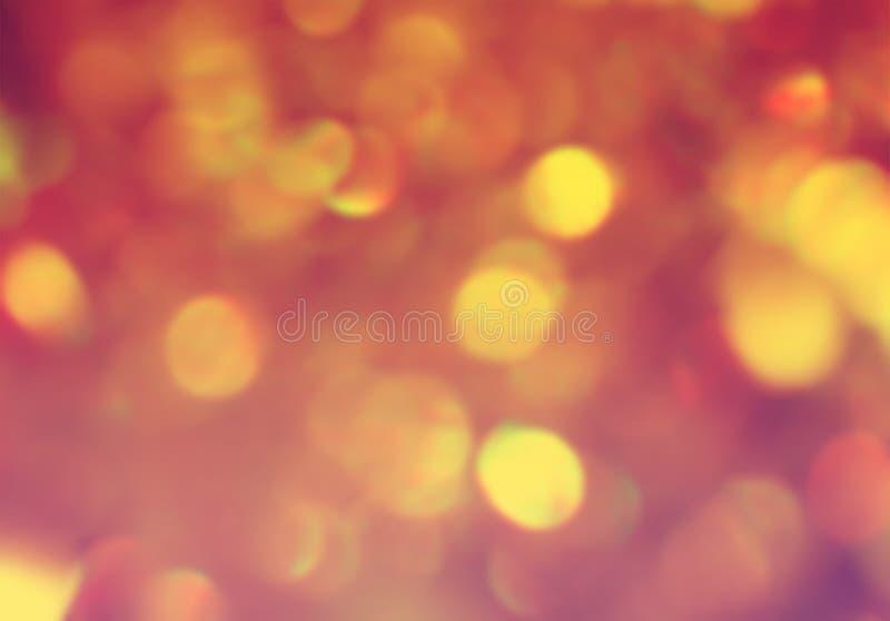 Gouden bruin gestemd bokeh abstract onscherp ontwerp als achtergrond stock illustratie