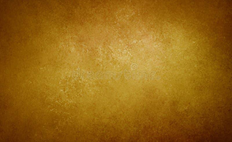 Gouden bruine achtergronddocument uitstekende textuur royalty-vrije stock foto's