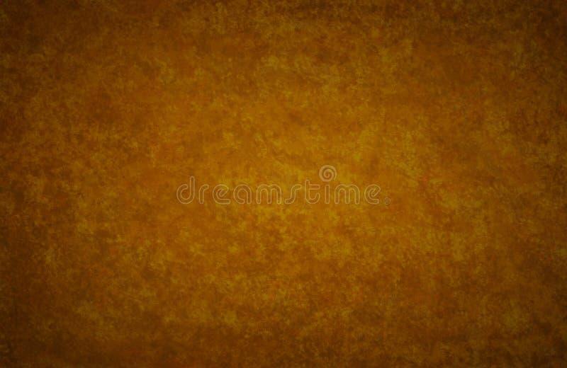 Gouden bruine de herfst gekleurde achtergronddocument uitstekende textuur royalty-vrije stock afbeelding