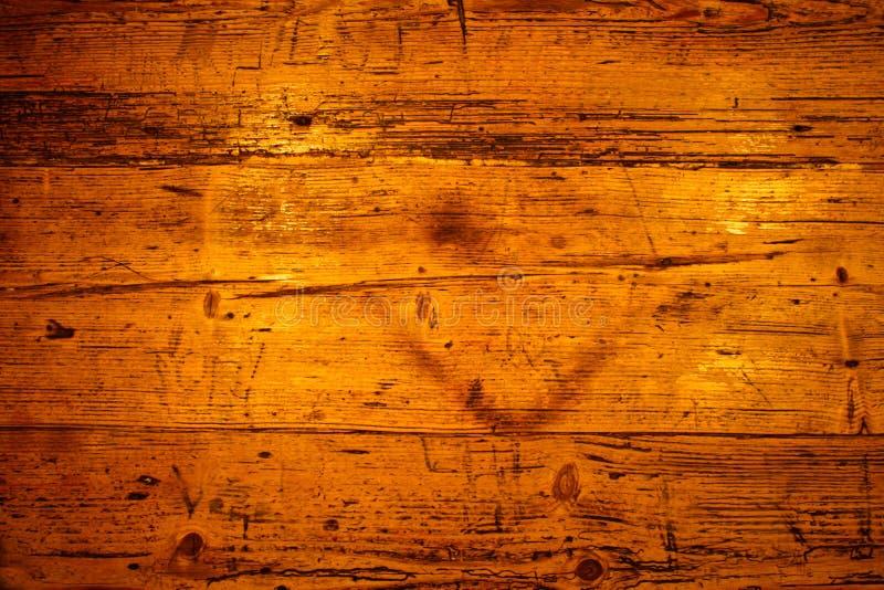 Gouden bruine houten textuur stock foto's