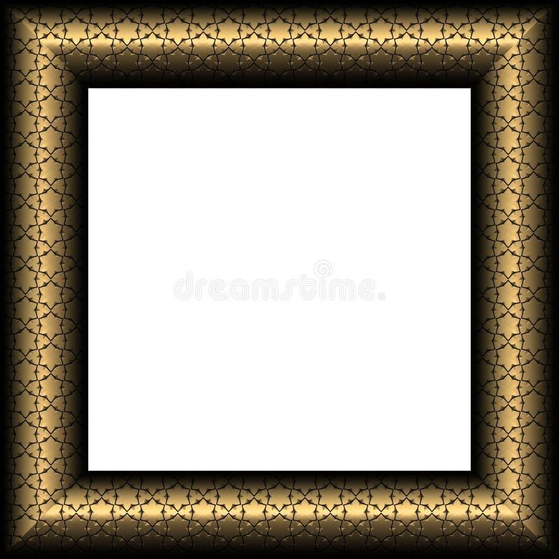Gouden Buitensporig Frame met Sterren vector illustratie