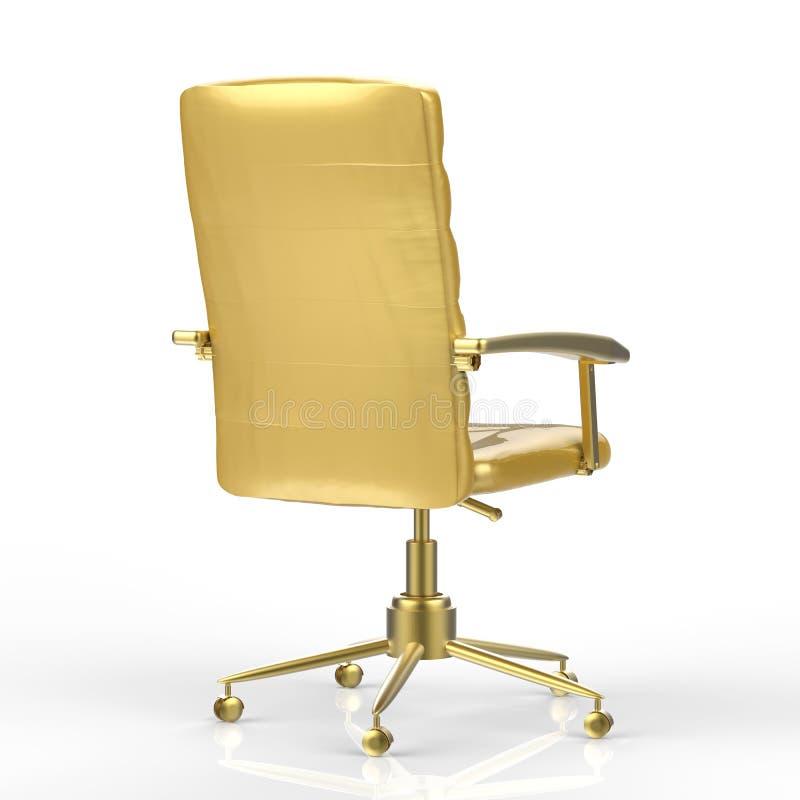 Gouden bureaustoel stock illustratie