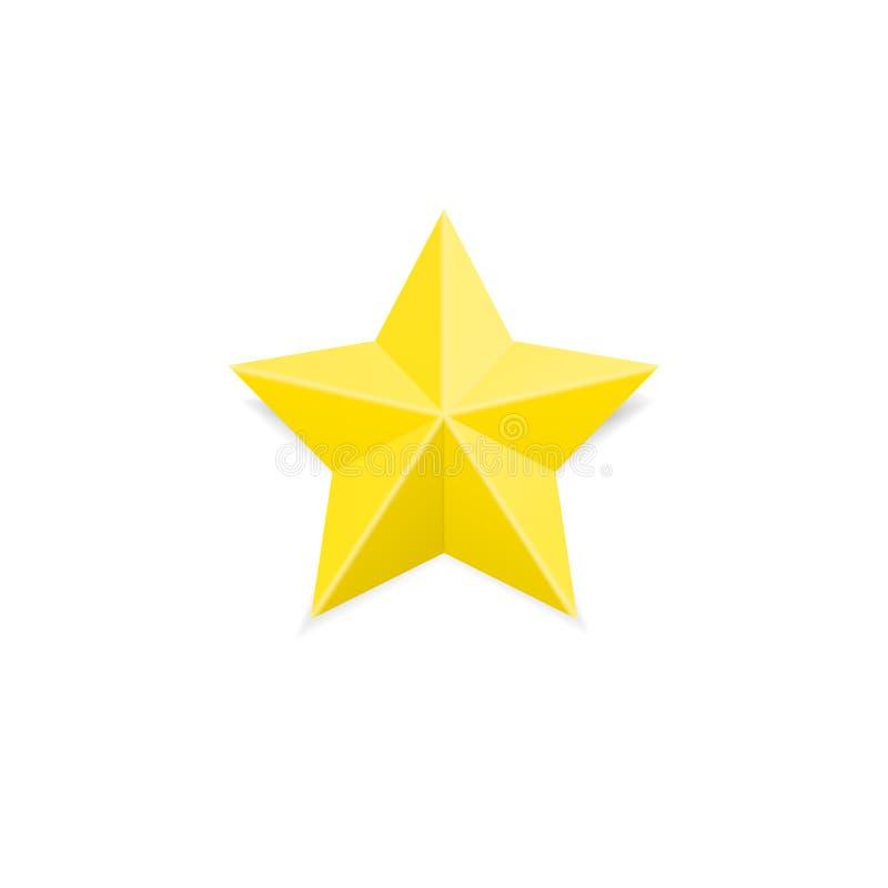 Gouden classificatiester De gele eerste plaats bereikt teken stock illustratie