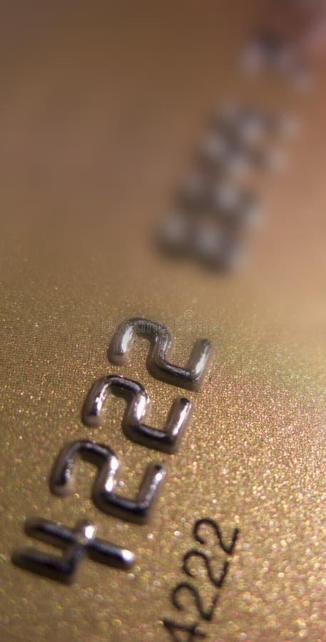 Gouden creditcard royalty-vrije stock fotografie