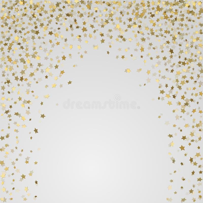Gouden 3d sterren op witte achtergrond royalty-vrije illustratie