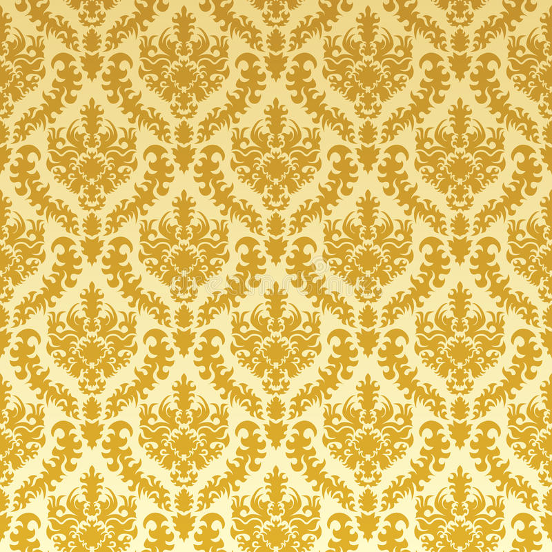 Gouden damast vector illustratie