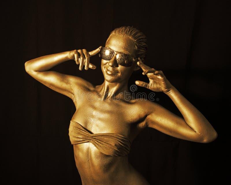Gouden dame royalty-vrije stock afbeelding